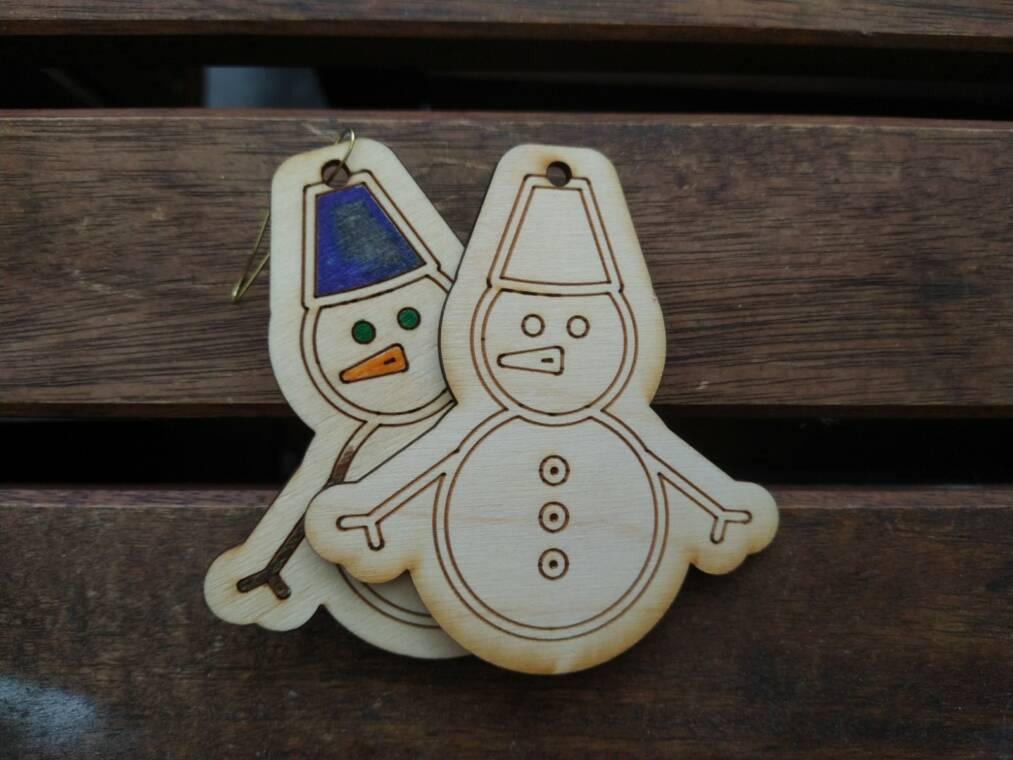kerstboomfiguur sneeuwman