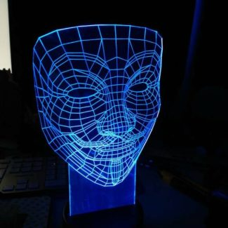 ledlicht anonymous mask