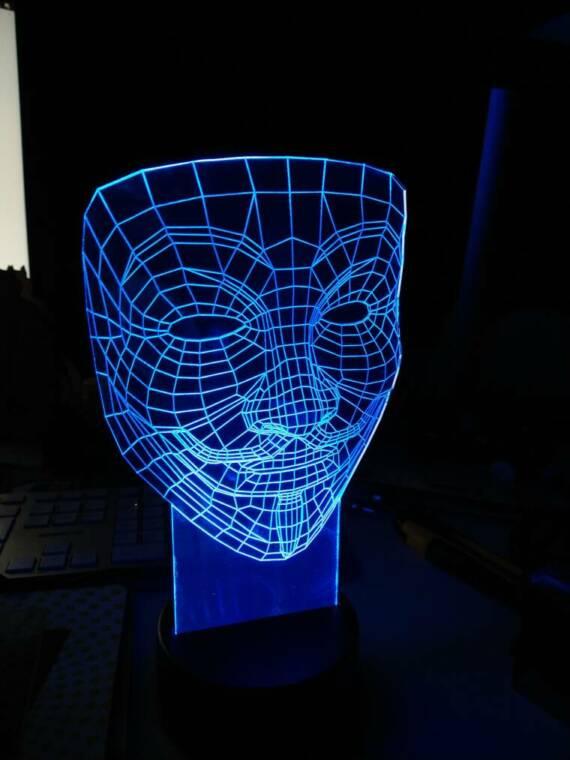 ledlicht anonymous mask