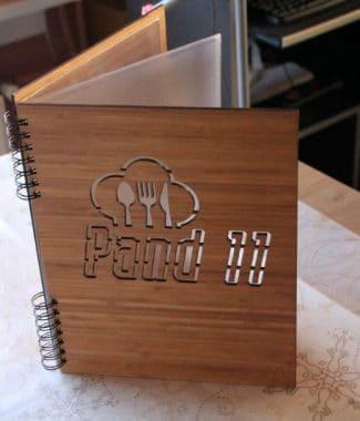 menuboek bamboe