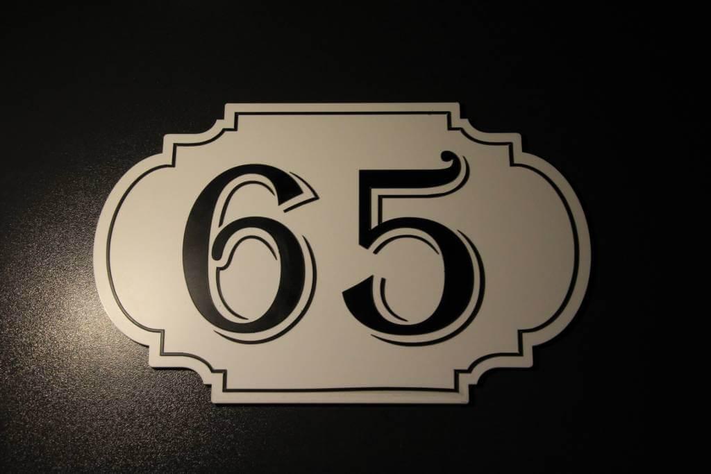 ADA huisnummerbord
