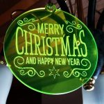 kerstbal acryl fluo groen