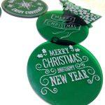 kerstbal acryl groen